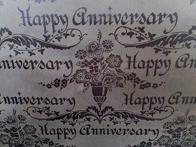 Vintage Tie Tie Victorian Silver Wedding Anniversary Gift Wrapping Paper