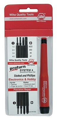Wiha® 62990 Proturn 5 Piece Precision Slotted (Flathead) & Phillips Driver Set
