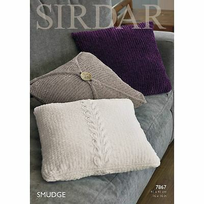 Sirdar Smudge Cushions Covers Pattern 7867 Leaflet Knitting Needlecraft