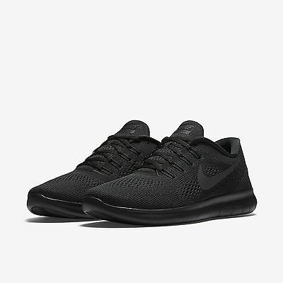 136ca9c855a4a NIKE FREE RN 2016 Triple Black Pack Anthracite Running Mens All NEW ...