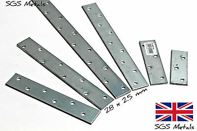 Qty 1 - Mending Plate Galvanised Strap 30 x 2.5 mm Select Length 100 - 1000mm