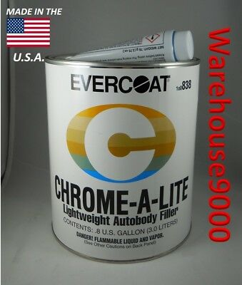 100838 One Gallon Evercoat Chrome-A-Lite With Hardener Auto Body Filler