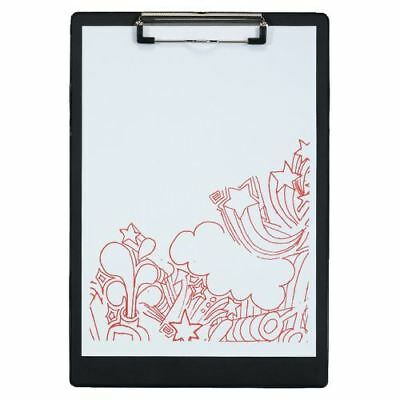 10 Pack of  A4 Foolscap Size Clipboard Black 340Hx235W mm
