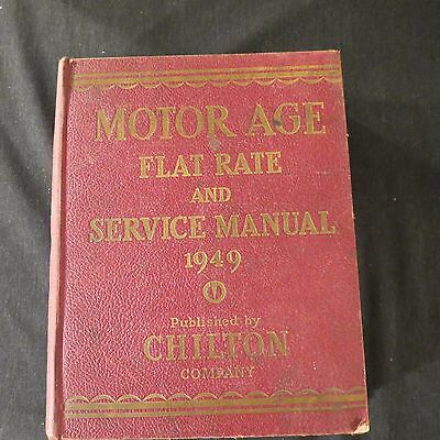 Motor Age Flat Rate and Service Manual 1949 Chilton HC