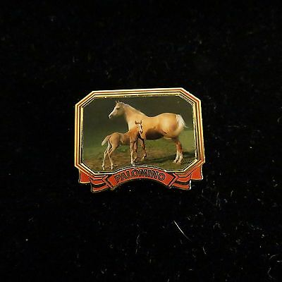 Palomino Horse Pin with foal Equestrian Lapel