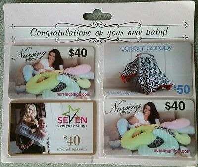New mother four piece gift card set $170.00value