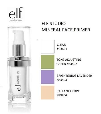 E.L.F Cosmetics Mineral Infused Face Primer Makeup Make-up Teint elf 4 Shades