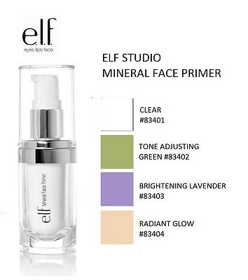 E.L.F Cosmetics Mineral Infused Face Primer Makeup Maquillage Teint elf 4 Shades