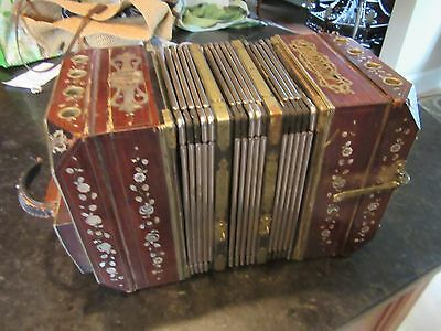 Accordion VINTAGE Wunderlich Siebenbunnis Marveltone MotherPearl Inlay Wood