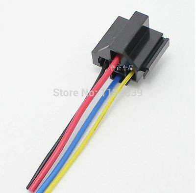 5pc AP universal automobile relay socket with wire combined flame retardant 10CM