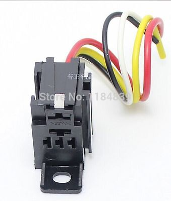 5pcs automobile relay socket with wire length combined flame retardant 12CM
