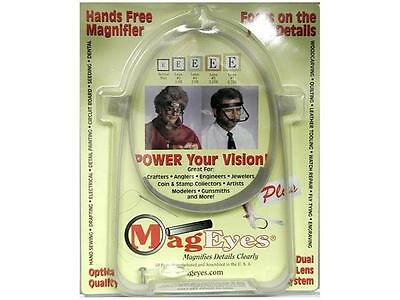 MagEyes Hands Free Magnifier Plus w/#2&#4 & Loupe