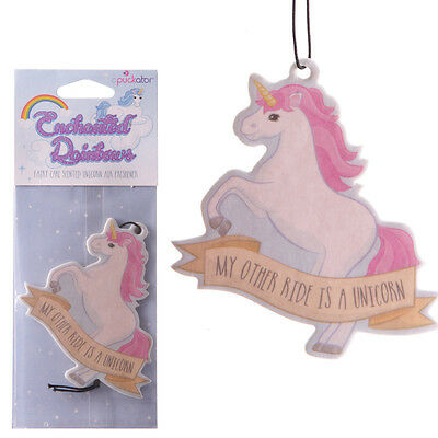 Novelty unicorn air freshener Fairy cake Scented my other ride Car/ Van / Office