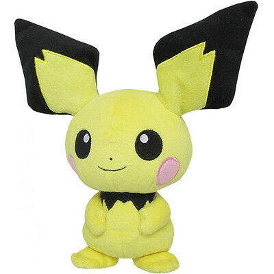 "Genuine Official Sanei Pokemon Series PP25 Pichu 8.5"" All Star Collection Plush"