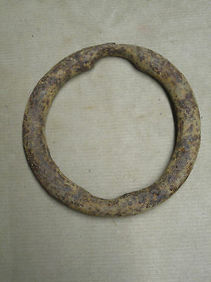 Vintage Hand Forged Blacksmith Made Large Ox Yoke Ring Logging Log Tool 'OXR'