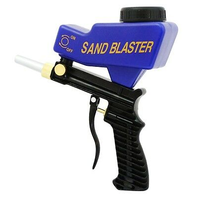 LEMATEC Pro Gravity Feed Metal body Portable Sandblaster Gun Abrasives Air tool