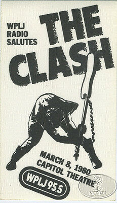 THE CLASH 1980 WPLJ RADIO PROMO BACKSTAGE PASS Capitol Theatre