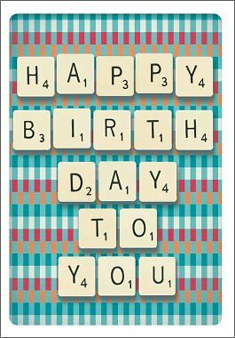 """Card - Scrabble """"HAPPY BIRTHDAY TO YOU"""""""