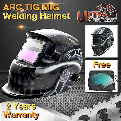 Solar Powered Welding Helmet Auto Darkening welders Mask Grinding MIG ARC TIG