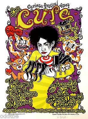 THE CURE - Original Concert Poster S/N by Michael Motorcycle - Curiosa Fest