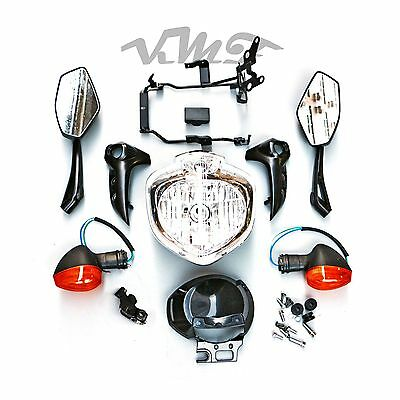Headlight Set Head Light Kit Assembly For Yamaha FZ6N FZ6S Fazer 2004-2006 05