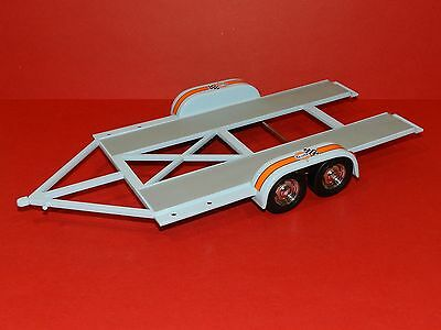 "GMP 1/18 Car Trailer Set ""Gulf""  Garage Accessories. Great for dioramas"