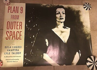 Vampira Poster Plan 9 From Outer Space Movie RARE Ed Wood Sci Fi Horror