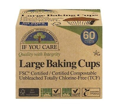 If You Care Unbleached Large Baking Cups 2.5 Inch - 60 Count