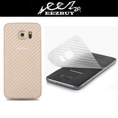 3D Transparent Carbon Fiber Skin Back Cover Screen Protector Film For Cell Phone