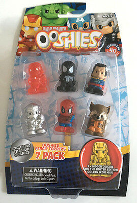 MARVEL Ooshies Pencil toppers - 7 Pack C figure , New