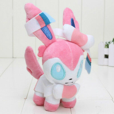 Pokemon Sylveon Soft Plush Toy Stuffed Animal Doll 7'' Teddy Kids Xmas Gift new