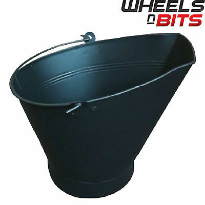 New Traditional Black Cast Iron Waterloo Style Fire Coal Bucket Firplace Logs