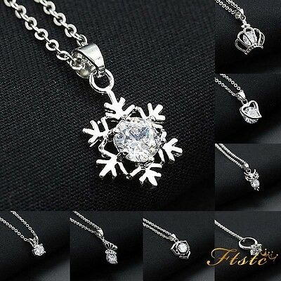 Wholesale Women Lady Solid 925 Silver Jewelry Pendant Necklace Chain Jewellery