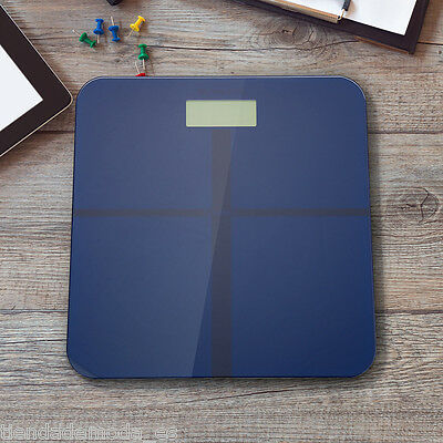 180KG Digital Electronic LCD Personal Glass Home Body Weight Weighing Scales UK
