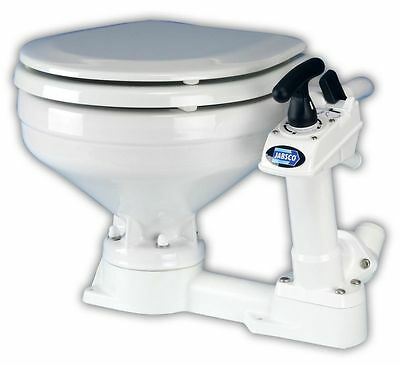 JABSCO Manual Flush Marine HEAD TOILET New 29120-5000 twist n lock