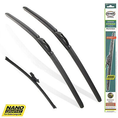 "Audi Q5 2008-2017 FULL SET OF 3 HEYNER wiper blades FRONT & REAR 24""20""12"""