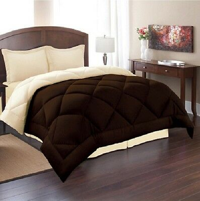 King Size Reversible Comforter Set 3 Piece Bed in a Bag Bedding Bedspread New