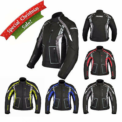 Motorbike Motorcycle Jacket Waterproof CE Armoured Codura Textile Coat Gear
