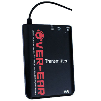 Silent Disco Beltpack Transmitter With Microphone For Sports & Conferences`