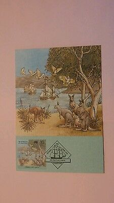 Australia First Day Cover 1988 The First Fleet Card #19