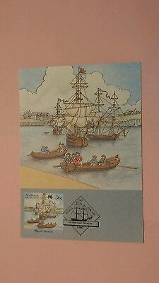 Australia First Day Cover 1987 The First Fleet Card #4