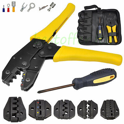 New Ratcheting Terminal Crimper Tool - Non-Insulated 20-2Awg, Insulated 20-10Awg