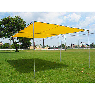 """10 X 16 Canopy, Swap Meet, Complete Kit with frame 3/4"""" pipe-Yellow Top"""