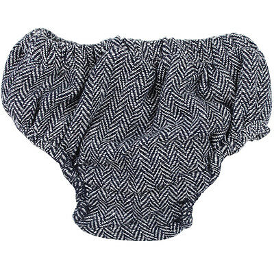 Gray and Navy Tweed Diaper Cover 100% Cotton Bloomers Boy Toddler Baby