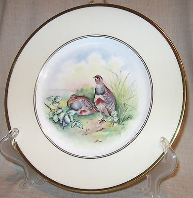 Minton Partridge Game Plate Artist Signed