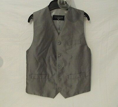 Steampunk Period dress Wedding Childs age 6 - 7 grey charcoal waistcoat Free p&p