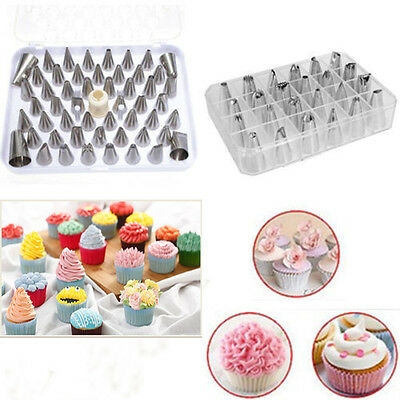 24pc Wholesale Cake Icing Piping Nozzle Cupcake Fondant Craft Pastry Decorating