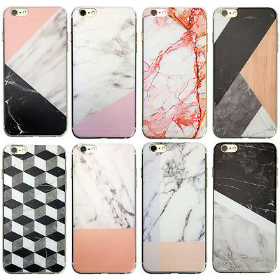 Marble Rock Wood Pattern Thin Gel Case Cover for Apple iPod Touch 6th 5th Gen 6