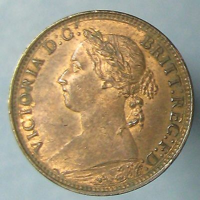 1891 Victoria Farthing - High Grade, Lustrous Red & Brown
