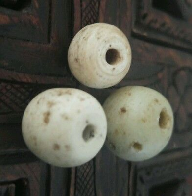 3 Rare Antique Dutch Dogon Beads from the African Trade
